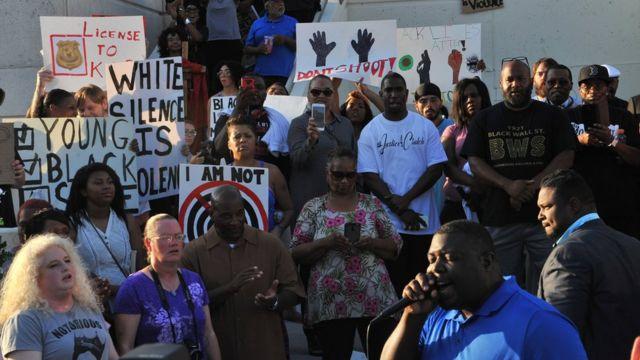 Protestas en Tulsa por la muerte de Terrence Crutcher