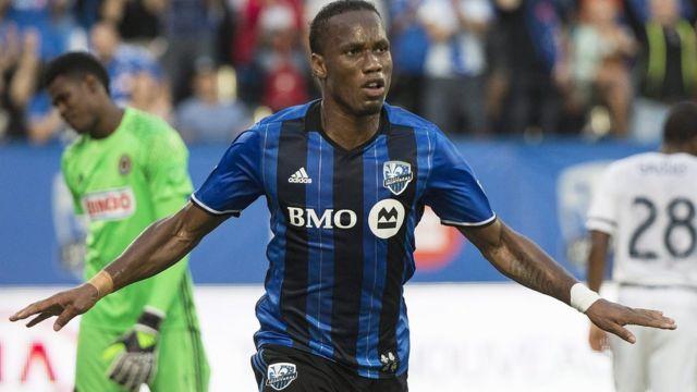 Drogba celebra con el Montreal.
