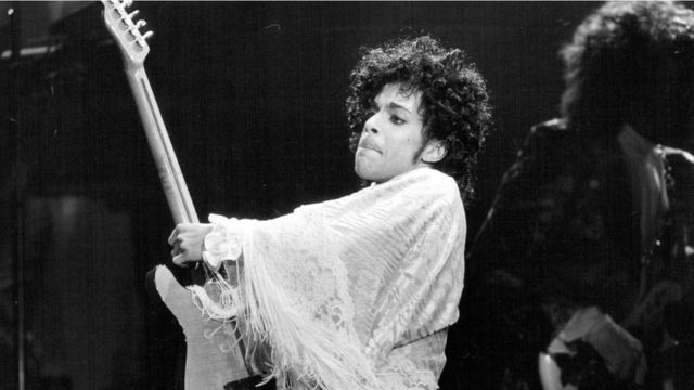 Prince performs at St. Paul Civic Center in St. Paul, Minn.