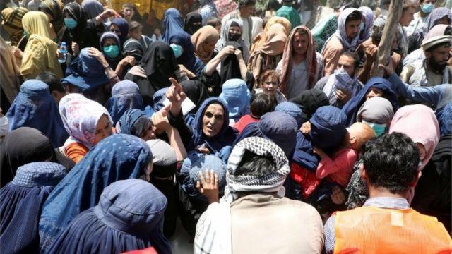 Những người Afghanistan di tản ở Kabul, Afghanistan. Ảnh: 10/8/2021