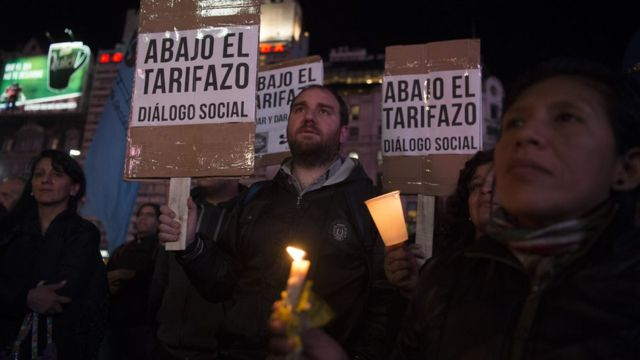 Protesta contra los tarifazos en Argentina