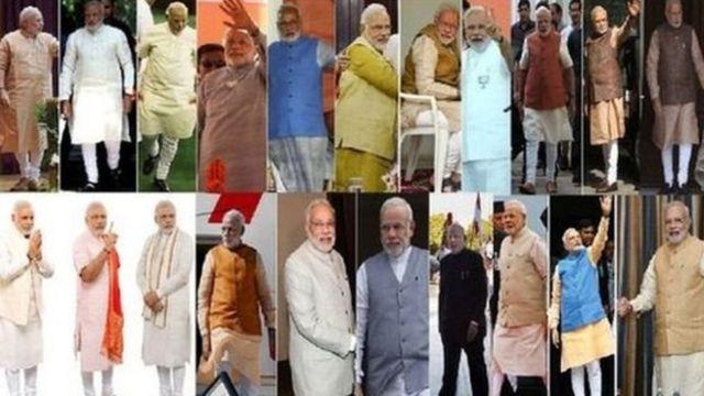 प्रधानमंत्री नरेंद्र मोदी की अलग-अलग पोशाक़