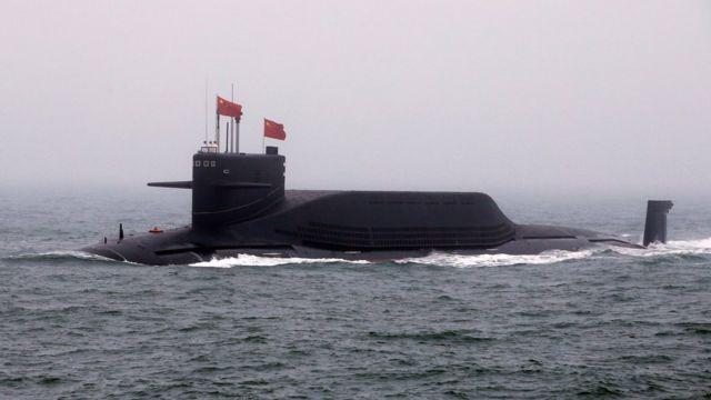 首次亮相的中国核潜艇长征11号
