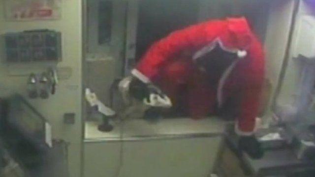 Man dressed as Santa Claus