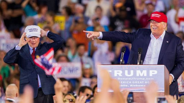 Mr Sessions was the first US senator to endorse Mr Trump for president