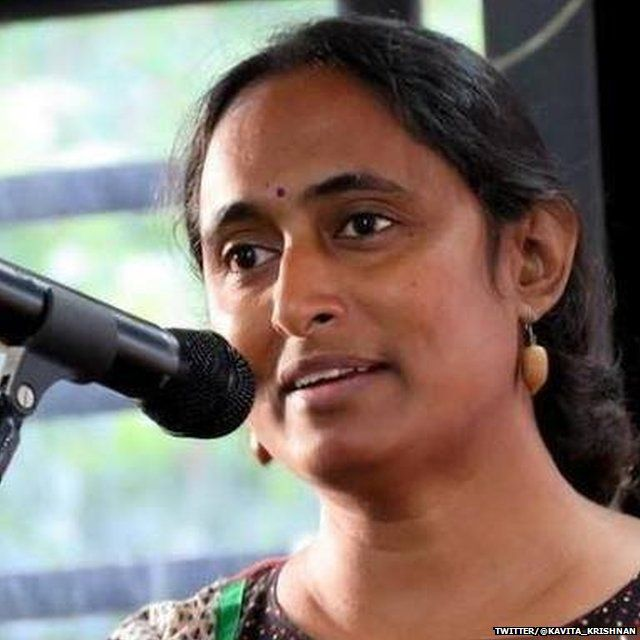 अखिल भारतीय प्रगतिशील महिला संघ की सदस्य कविता कृष्णन