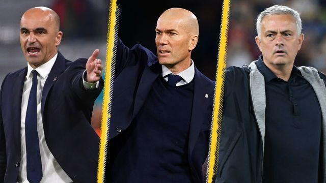 Roberto Martinez, Zinedine Zidane, Jose Mourinho