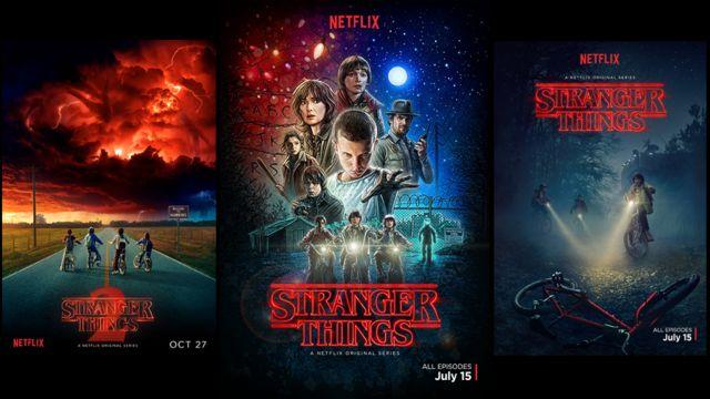 Affiches promotionnelles de Stranger Things