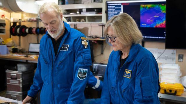 Investor and explorer Victor Vescovo and Dr Kathy Sullivan