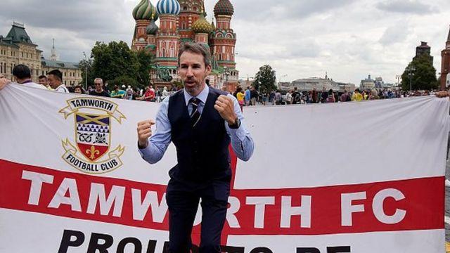 Geret Sautgejt sa navijačima u Moskvi