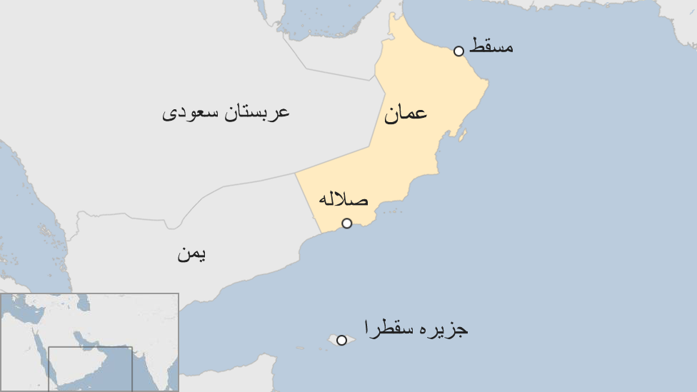 نقشه عمان