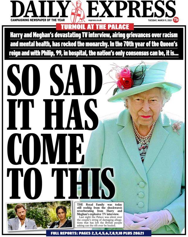 Daily Express gazetesinin bugünkü manşeti