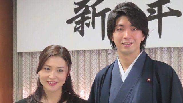 Kensuke Miyazaki and his wife