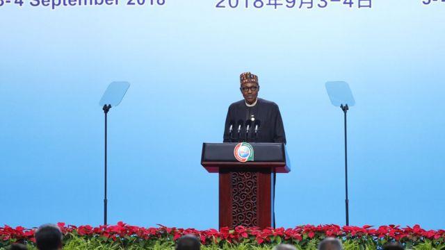 Aworan Aarẹ Buhari nibi ipade Afirika ati China ni Beijing