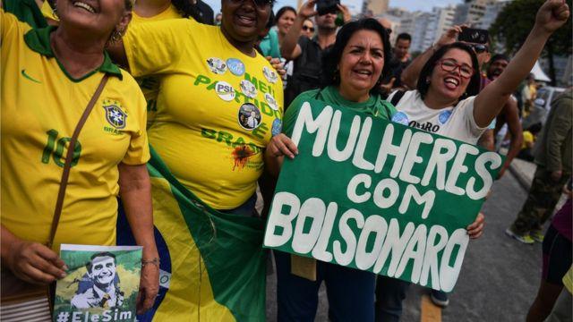 Protesto a favor de Bolsonaro