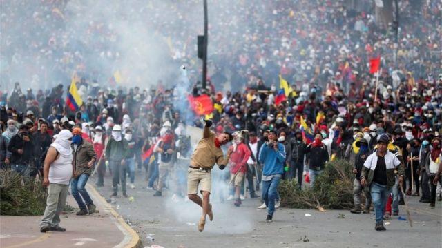Una marcha en Ecuador