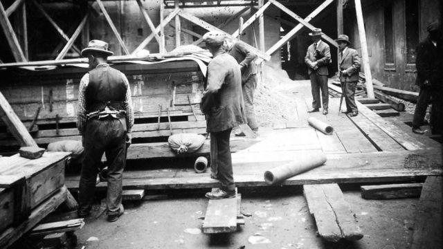 На раскопках в 1928 году