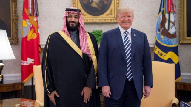 Veliaht Prens Muhammed bin Selman ve ABD Başkanı Donald Trump