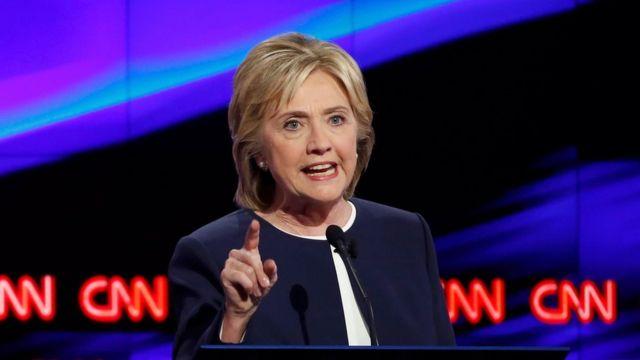 Hillary Clinton en un debate de CNN