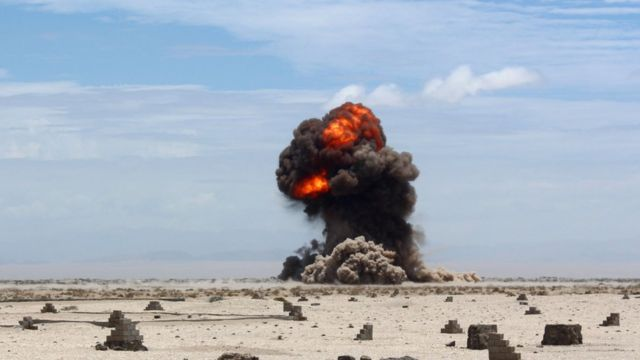Взрыв в пустыне