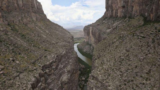 El rio Bravo (río Grande en EE.UU.)