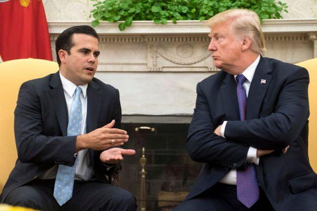 Ricardo Roselló y Donald Trump.