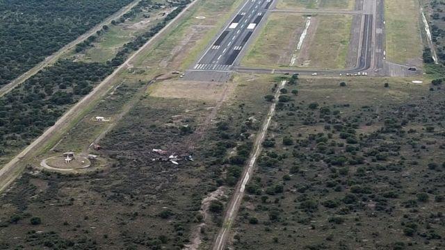 Fotografija mesta pada aviona u Durangu, 31. jula 2018