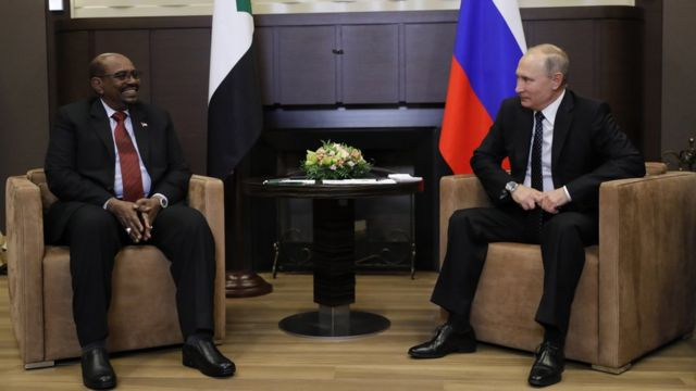 Переговоры Владимира Путина с Омаром Баширом