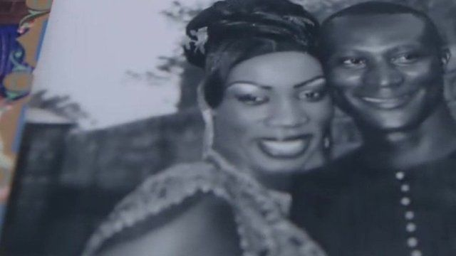 Aissatou Sanogo with her husband