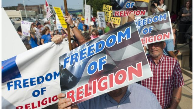 Freedom of Religion protesters