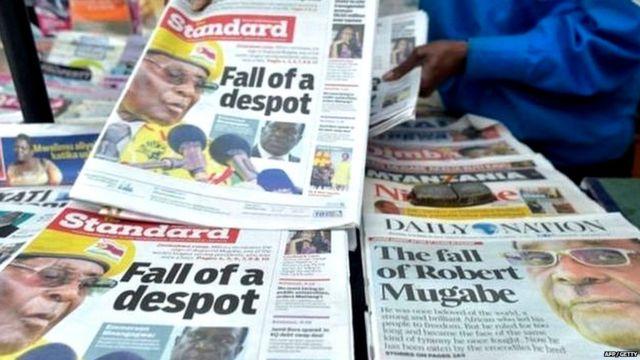 NEWSPAPER HEADLINES IN ZIMBABWE