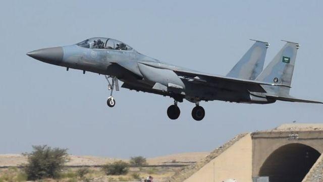 طائرة سعودية من طراز f-15