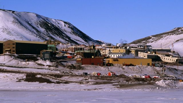 Estación de Mc Murdo en Antártica.