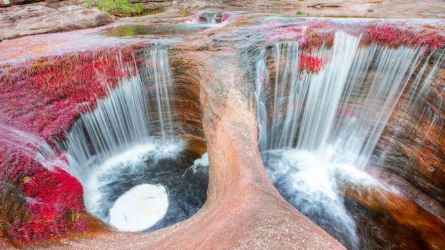Каньо-Кристалес, водопад