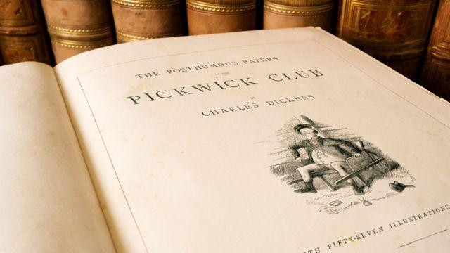 """""""Los papeles póstumos del club Pickwick"""", la primera novela de Dickens."""