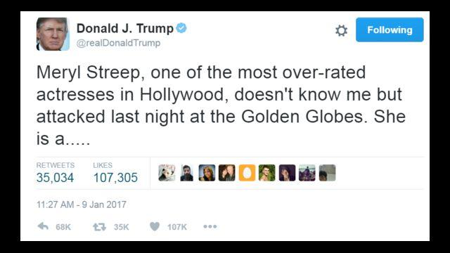 تغريدة من دونالد ترامب