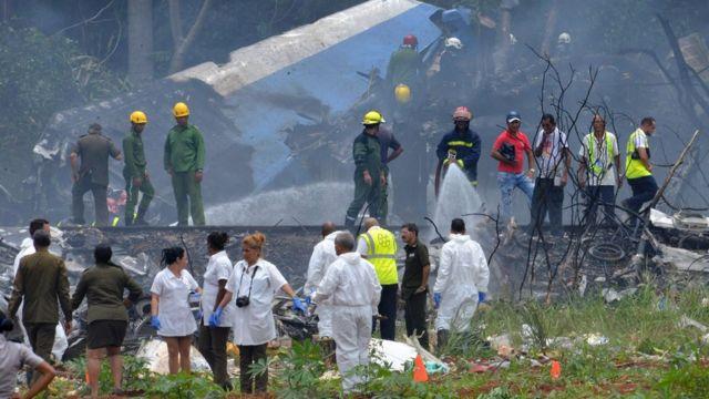 Lugar del accidente cerca del aeropuerto