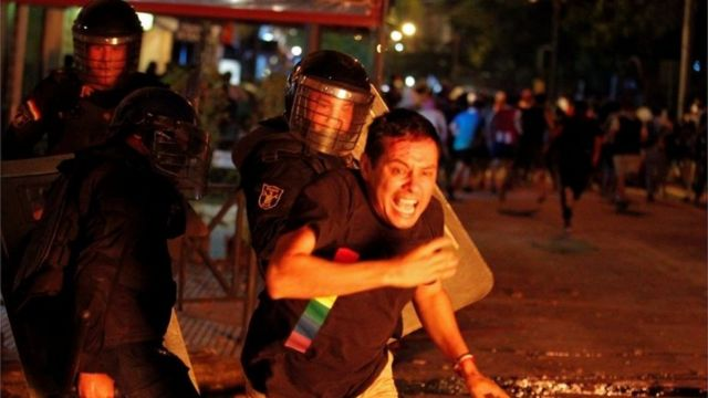 A protester in Paraguay.