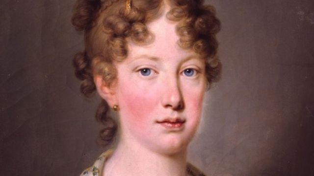 Pintura de Josef Kreutzinger, em 1815, dois anos de Leopoldina embarcar para o Brasil