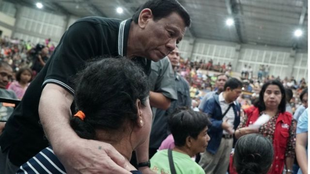 Duterte en un mitín