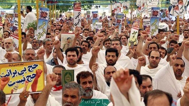 تظاهرات زائران ایرانی