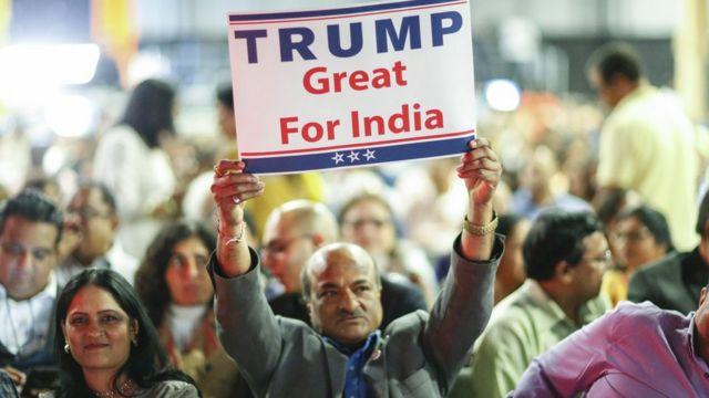 रिपब्लिकन हिंदू कोलिशन की रैली में पहुंचे भारतीय.