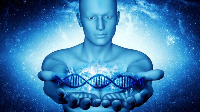 Ilustración de material genético