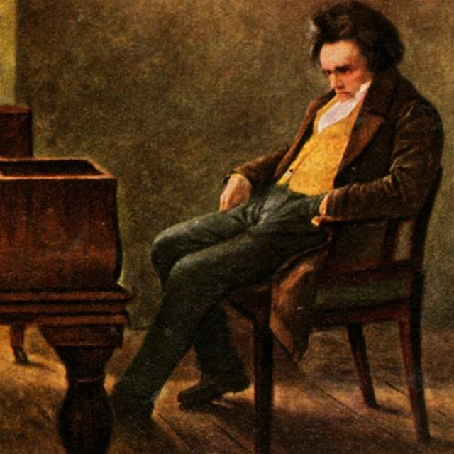 Ludwig van Beethoven, illustration from a cigarette card album, author unknown, preserved at the Pictures of German History collection