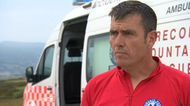 Brecon Mountain Rescue Team's deputy leader, Mark Jones