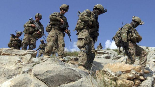 تصویری از نیروهای آمریکایی در افغانستان