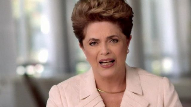 Dilma Rousseff issued a statement across social media