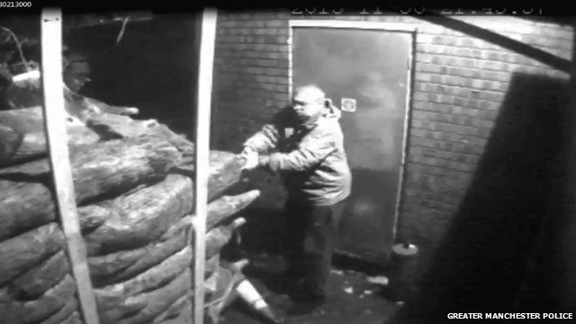 CCTV footage of people stealing Christmas trees