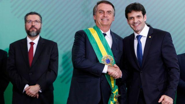 Marcelo Álvaro Antônio é empossado ministro pelo presidente Jair Bolsonaro em 1º de janeiro de 2019
