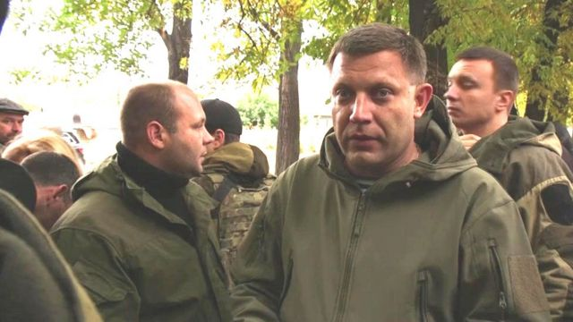 Aleksandr Zakharchenko, head of the self-proclaimed Donetsk People's Republic